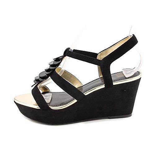 AK Anne Klein Women's Kasandra Wedge Sandal,Black,10 M US
