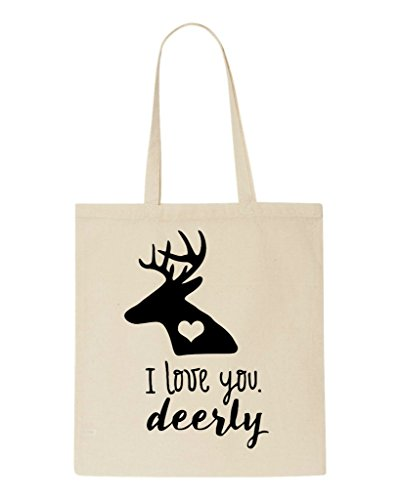 Deerly Tote Statement Love You Beige Bag I Shopper Ox8EqfTnw