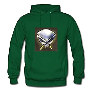 Unofficial Hell Rider Hoodies Vogue Designed Green Cotton X-large Women Personalized