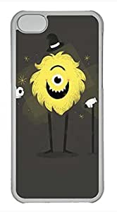 iPhone 5c case, Cute Yellow Monster iPhone 5c Cover, iPhone 5c Cases, Hard Clear iPhone 5c Covers