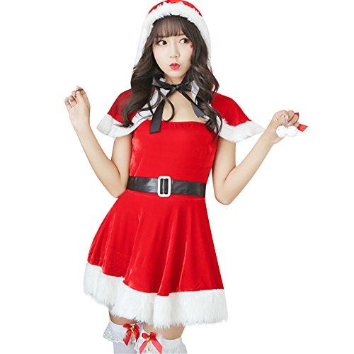 Jocolate(ジョコレート) サンタコス サンタワンピース サンタ コスプレ サンタクロース 衣装 サンタ クリスマス レディース ワンピース 女の子用 パーティー かわいい ふわふわ 人気