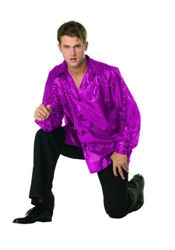 Disco Inferno Costumes (70's Purple Disco Inferno Adult Costume By RG Adult Plus Size (44-48)