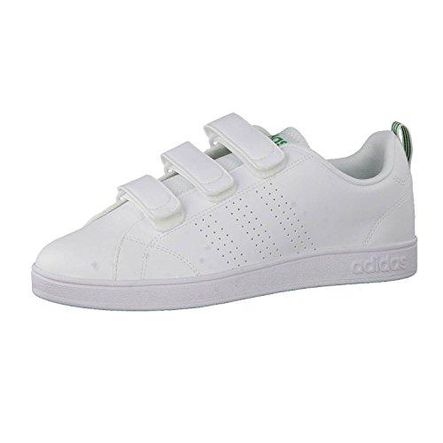 adidas Vs Advantage Clean CMF, Men's Trainers White-green