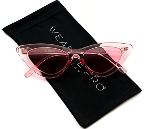 WearMe Pro - Retro Vintage Tinted Lens Cat Eye - Sunglass Pink