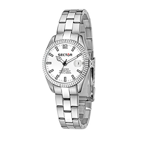 SECTOR Women's 245 Analog-Quartz Stainless-Steel Strap, Silver, 18 Casual Watch (Model: R3253486510