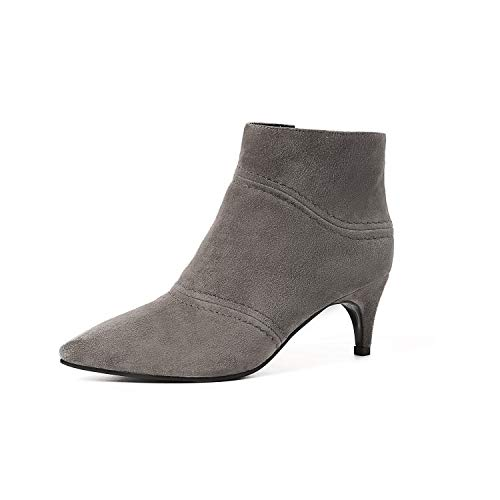 Courtes Stiletto à Bottines Pointus Talons Grey pour Femme A4d4Fxnw
