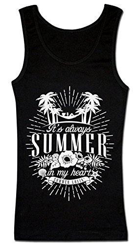 It's Always Summer In My Heart Summer Lovin' T-shirt senza maniche da donna