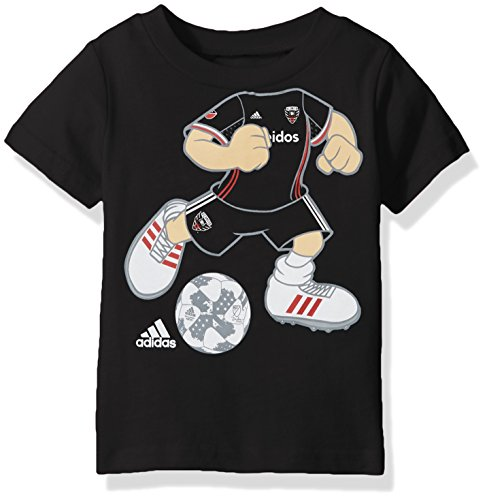 Outerstuff MLS D.C. United Boys -Dream Job Soccer Player Short Sleeve Tee, Black, 2T (Player Tee Football)