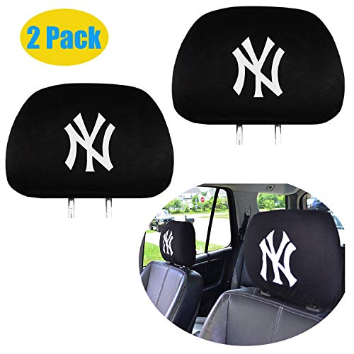 - 2 Pack Car Truck Auto MLB Headrest Cover (Yankees)