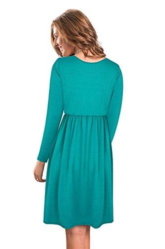 Kleid turkis langarm