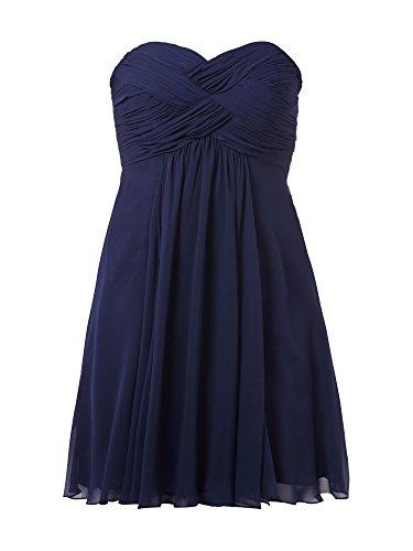 Marie Einfach La Cocktailkleider Abendkleider Abiballkleider Navy Blau Partykleider Traegerlos Kurz Braut dEqxqR