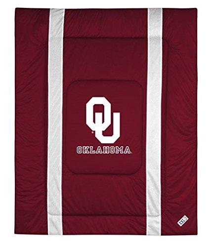 University of Oklahoma Jersey Stripe Comforter (Full/Queen) (Sooners Full Comforter Oklahoma)