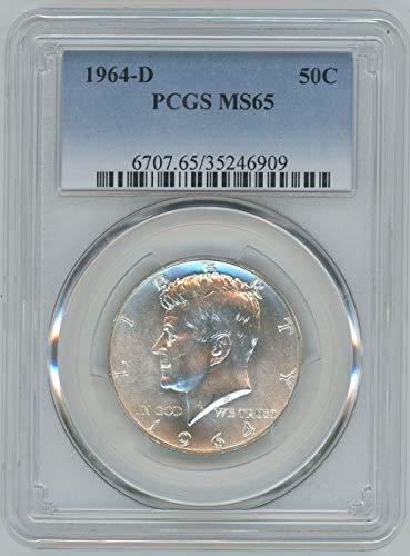1964 Coins Dollar Half - 1964 D Kennedy Half Dollar 50C MS65 PCGS