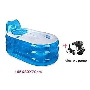 PROMISE-YZ Piscina inflable Bañera plegable Bañera para el ...