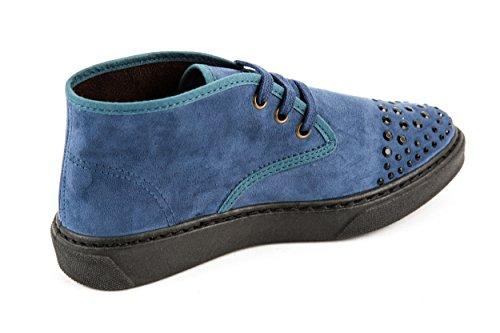 Natural World, Scarpe stringate donna Blu Blau 36