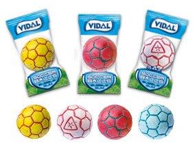 Soccer Balls Bubble Gum 60 Count Bag ()
