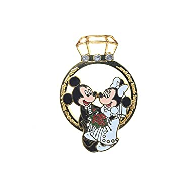 Disney Parks Exclusive Mickey & Minnie Wedding Ring Trading Pin