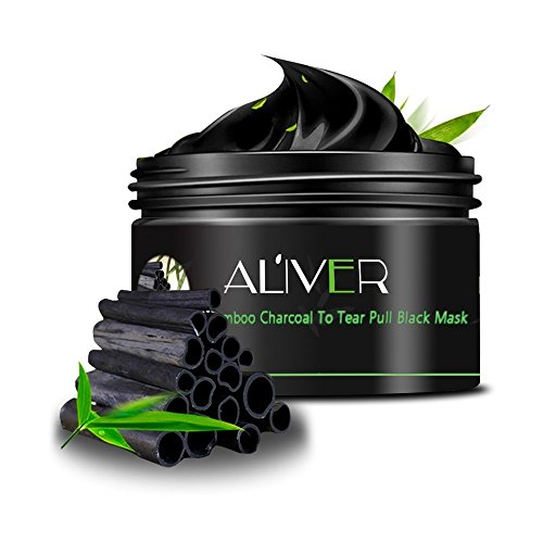 Aliver Black Mask Bamboo Charcoal Deep Cleansing Mask Blackhead Remover Peel Off Clean Face Mask