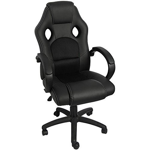 41HOI%2BCT2%2BL - Furmax Executive Racing Office Chair PU Leather Swivel Computer Desk Seat PU Leather and Mesh Bucket Seat,Computer Lumbar Support Chair