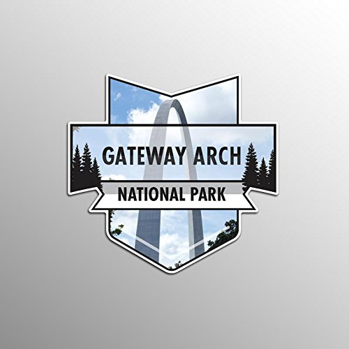 2-Pack Gateway Arch National Park Decal Sticker | 4.7-Inches By 4.4-Inches | Premium Quality Vinyl Sticker | UV Protective Laminate | PD931 ()