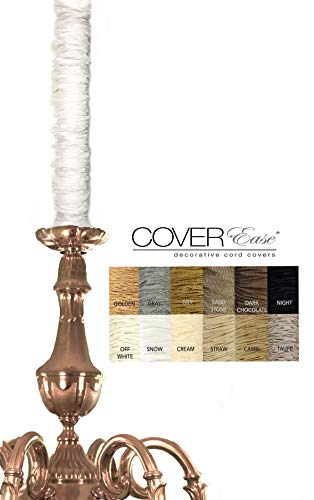 Snow Chandelier Chain Cover Cover Faux Silk 6 ft long -