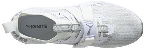 Puma Herren Ignite Evoknit Lo 2 Cross-Trainer Weiß (Puma White-Quarry)
