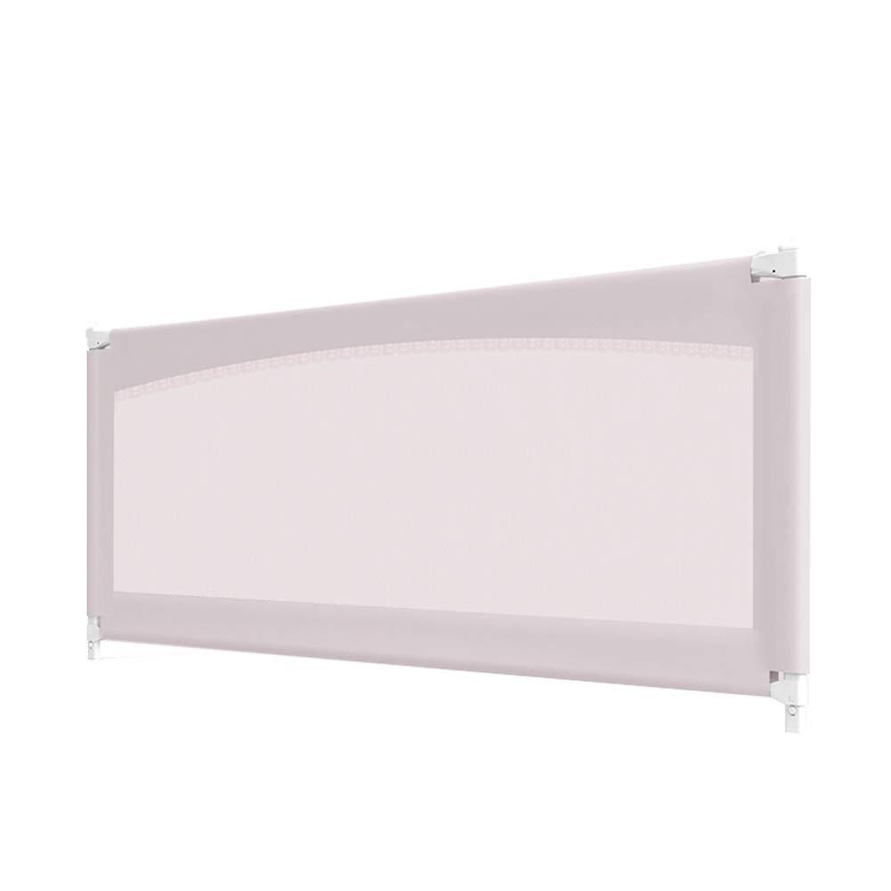 CQILONG ベッドレール上下に上下するスペースを節約オールスチールスケルトン安定した帯電防止グリッド子供のための、2色、3サイズ (色 : ピンク, サイズ さいず : 180x71-81cm) 180x71-81cm ピンク B07S2XT1B7