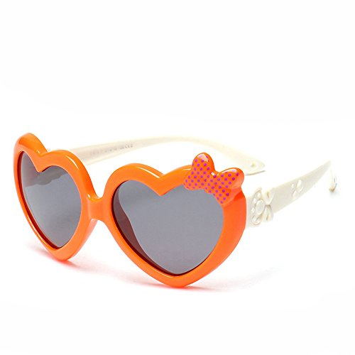 Super Cute Heart Shaped Sunglasses with Bow Tie for Kids Age - Sunglasses Super 8