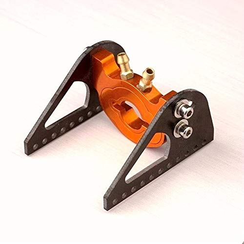 Motor Mount rc: RC Boat 28/29 Motor Mount with Water Cooling System mounting Distance Within 19mm Aluminum CNC machined Width 44mm