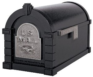 Gaines KS-25A - Eagle Keystone Series Mailboxes - Black/Satin Nickel