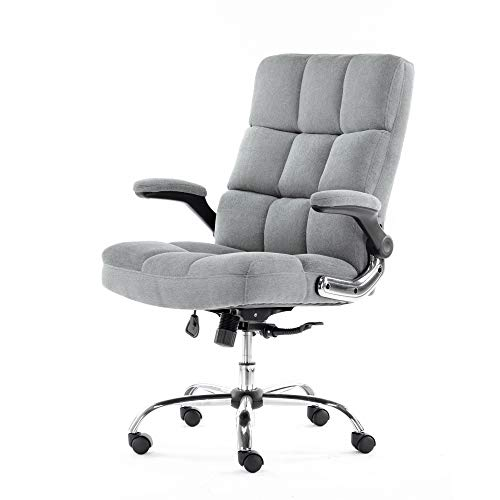 ALEKO ALC3288GR Upholstered Fabric Luxury Office Chair – Gray