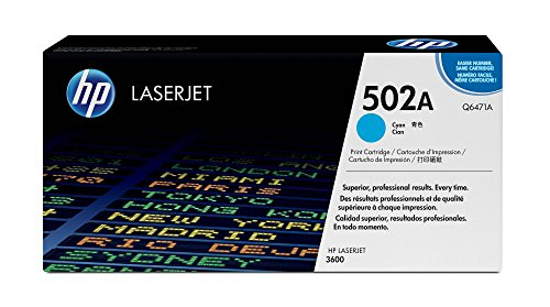 HP 502A (Q6471A) Cyan Original LaserJet Toner Cartridge - Hp Color Laserjet 3600 Toner