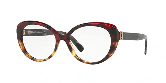 f1413e8382a7 Burberry Women s BE2251 Eyeglasses Red Havana Light Havana 53mm at ...