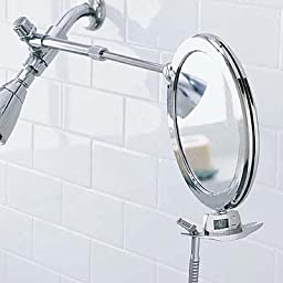 Zadro 3x Mag Z Fogless Dual Sided Telescoping Shower Mirror and Dual Accessory Holder, 8.5-Inch, Chrome Finish