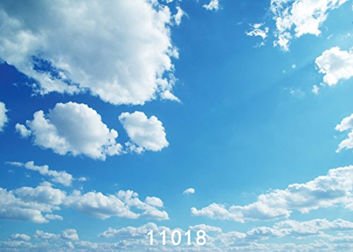 - SJOLOON 7x5ft Photography Backdrop Cartoon Blue Sky White Cloud Newborn Baby Background Props Photocall Photo studio 11018