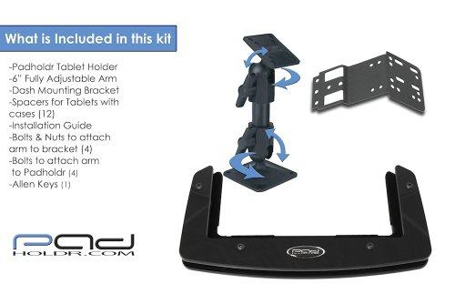 Padholdr Social Series Premium Tablet Dash Kit for 2002-2005 Dodge Ram Pickup 1500, 2500 and 3500 by PADHOLDR (Image #2)