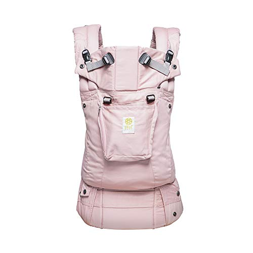 LÍLLÉbaby Complete Organi-Touch SIX-Position Ergonomic Baby & Child Carrier, Blushing Pink – Organic Cotton