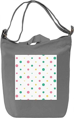 Colorful Bubbles Print Borsa Giornaliera Canvas Canvas Day Bag| 100% Premium Cotton Canvas| DTG Printing|