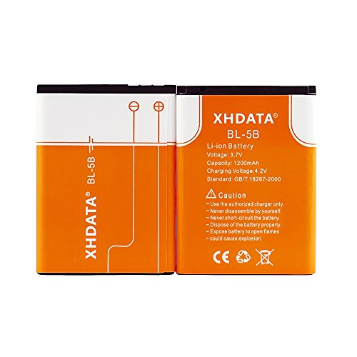 XHDATA BL-5B 3.7V 1200Mah Rechargeable Battery for Radio 2 Pieces