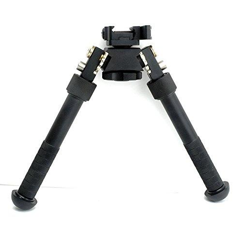 TACKSPORT Rifle Bipod CNC QD Tactical Picatinny Rail 6.5 - 9 inch Bipod Flat Adjustable (Ar 15 Vertical Foregrip)