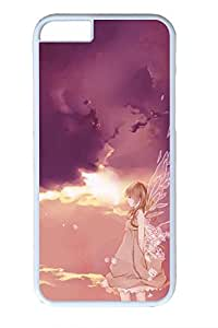 Anime Angel Girl 2 Cute Hard Cover For iPhone 6 Plus Case ( 5.5 inch ) PC White Cases by icecream design