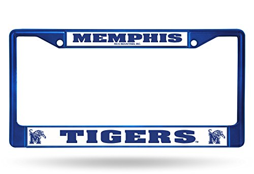 Rico NCAA Memphis Tigers Colored Chrome Plate Frame, Blue ()
