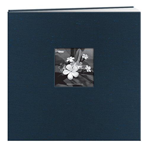 12x12 Inch Postbound Scrapbook - Pioneer 12-Inch by 12-Inch Silk Postbound Album with Photo Window, Blue