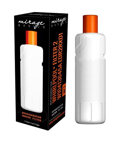 Whirlpool Filter 2 W10413645A EDR2RXD1 KENMORE Compatible Mirage Basics Water Filter by Mirage Basics