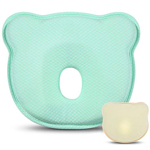 Baby Head Shaping Pillow for Newborn, Breathable Baby Memory Foam Pillow for Baby and Infant Flat Head Syndrome Prevention and Head Support by PB PEGGYBUY