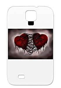 Vained Hearts Broken Love Emo Hearts Broken Hearted Black Vained Heart Protective Case For Sumsang Galaxy S4