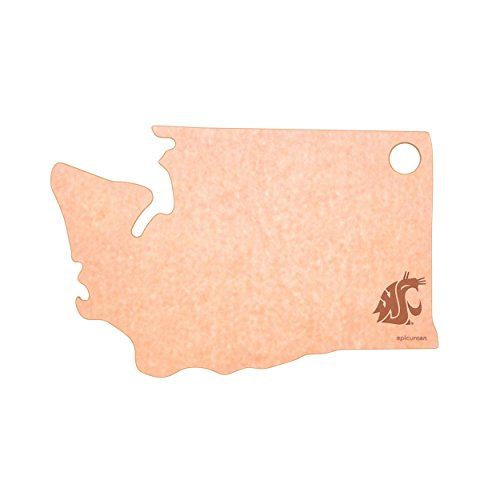 Epicurean Washington State University Cougars Cheese Board, Natural/Slate (Cheese University)
