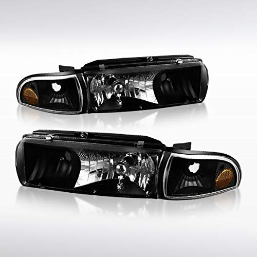 - Autozensation For Chevy Caprice/Impala Black Headlights Corner Turn Signal Lamps 4PC