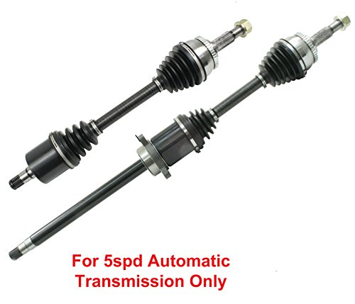 DTA DT1215321541 Front Driver and Passenger Side Premium CV Axles (New Drive Axle Assemblies - 2 pcs (pair) Fits 2004-2006 Nissan Altima 3.5L Maxima, With 5spd Automatic Only ()