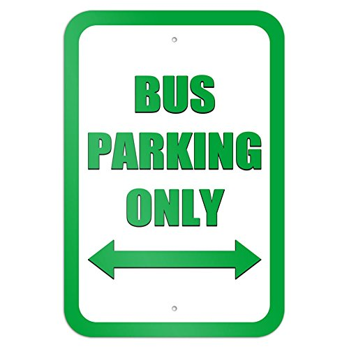 Arrow Double Sign (Bus Parking Only Double Arrow Green 9